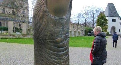 Koblenz's gigantic thumb