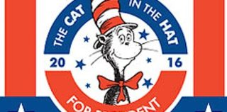 Cat in the Hat running for president on Carnival cruises