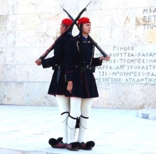 Shore Excursion: Guards at Tomb of the Unknown Soldier in Athens