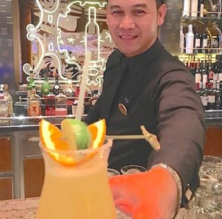 Sipping 'mocktails' as part of Regal Princess beverage package