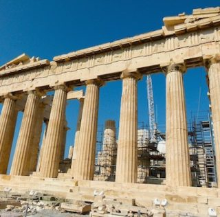 Parthenon dedicated to patron goddess of Athens