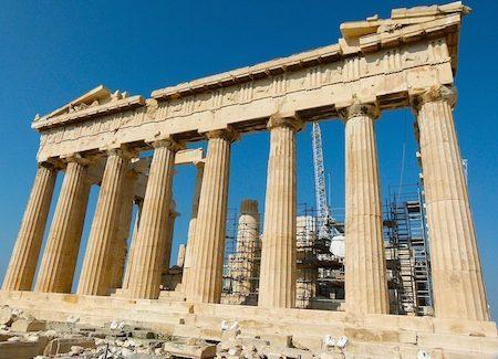 Parthenon dedicated to patron goddess of Athens