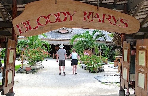 Shore Excursion: How Bora Bora got its name, having a cold drink at Bloody Mary's