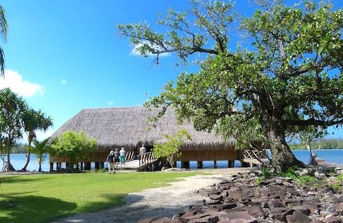 Shore Excursion: Visiting historic marae on island of Huahine