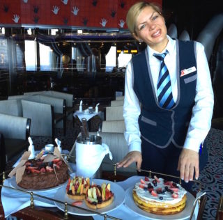 Carnival Sensation afternoon tea is relaxing treat