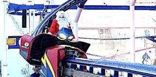 Santa Rides New Roller Coaster on Carnival Mardi Gras