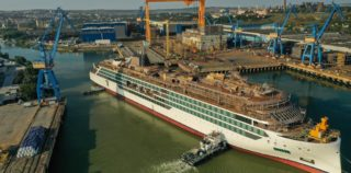 Viking Floats Out Second Expedition Ship